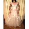 Продам свадебное платье бело-розовое